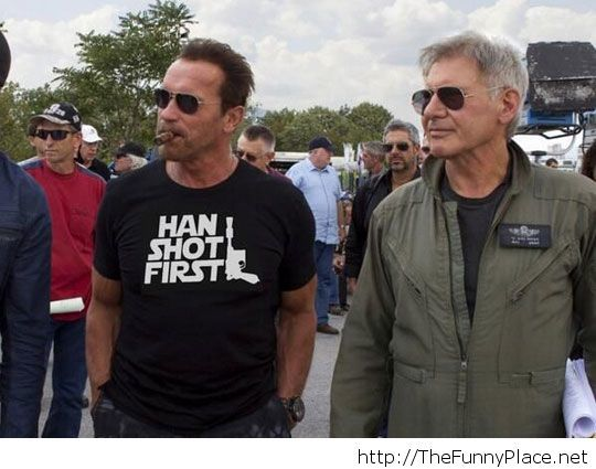 Cool shirt there, Arnold...