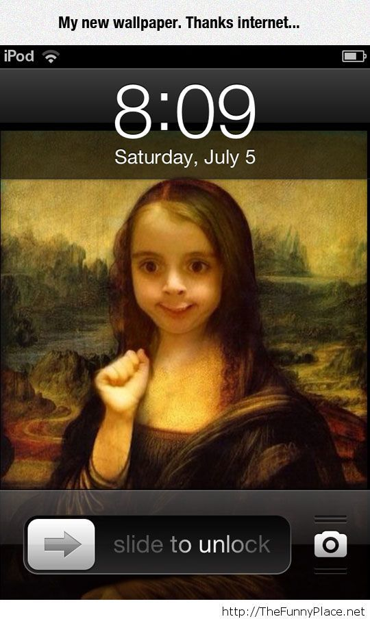 Funny Mona Lisa wallpaper