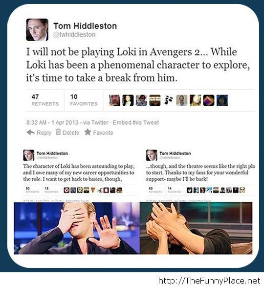 Funny Tom Hiddleston prank