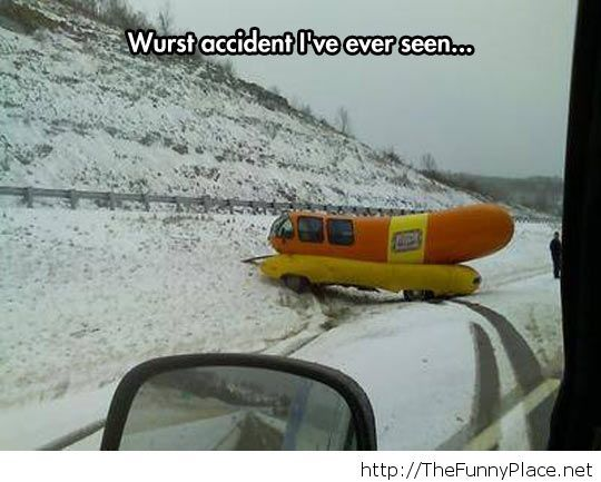 Funny hot-dog car tragedy