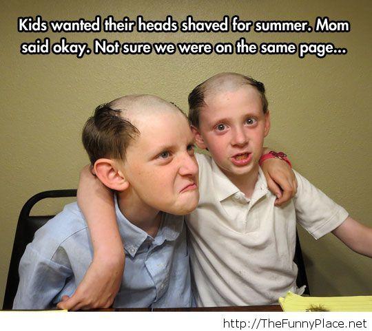 Funny summer haircut