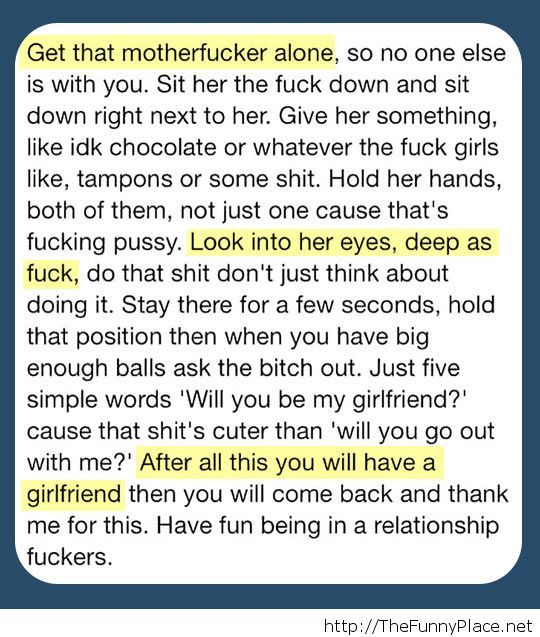 How to ask your girlfriend...