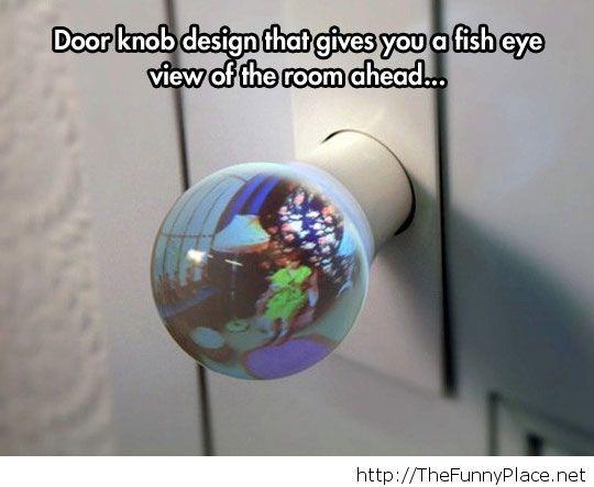 Indiscreet door knob