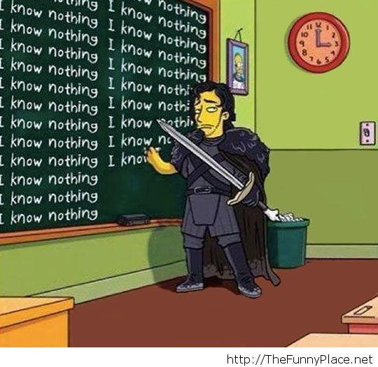 Jon Snow In The Simpsons Cartoons