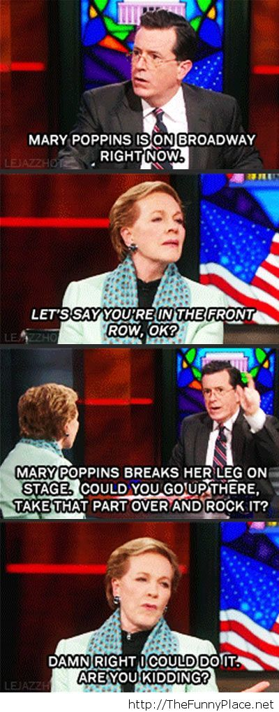 Julie Andrews funny interview