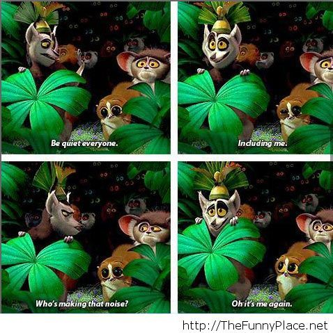 Madagascar King dancing