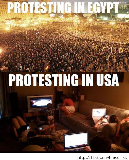 Protesting in different countries