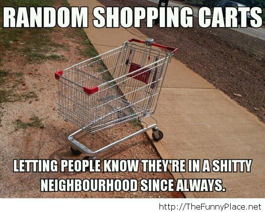 Shopping carts neighbourhood
