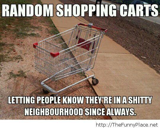Shopping carts neighbourhood
