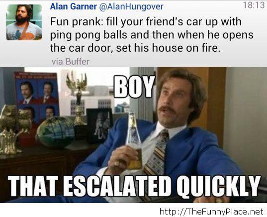 That's an improbable prank