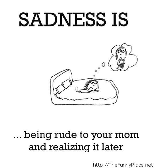 The definition of sadness