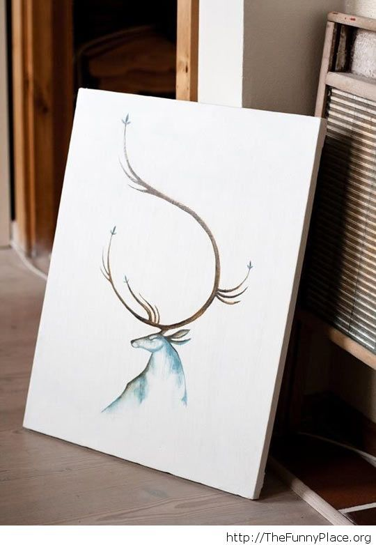 Amazing painting of a stag