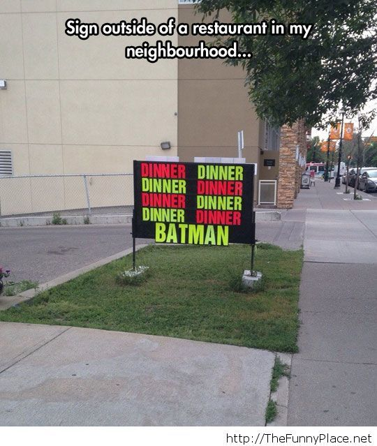 Funny Batman sign