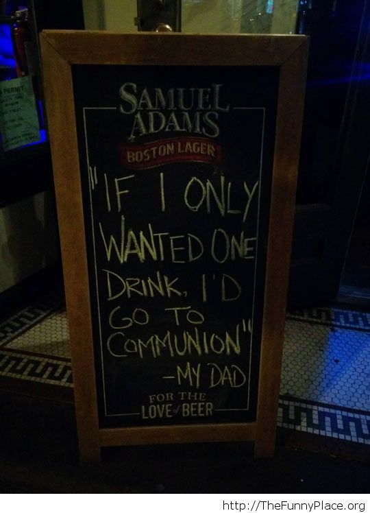 Funny one beer saying