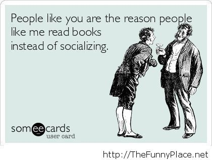 Reading books insult