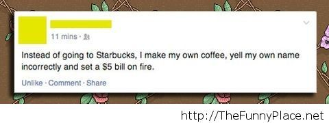 The Starbucks experience at home Funny