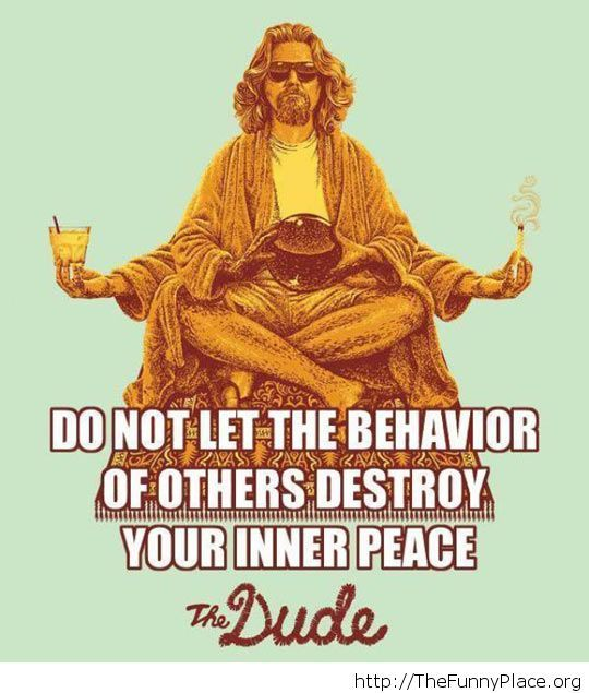 The dude is a wise man
