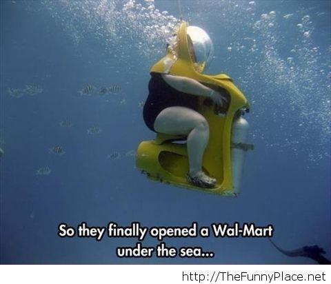 Wal-Mart underwater