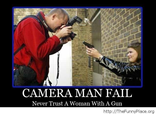 Camera man fail