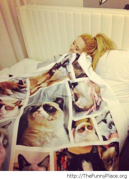 Grumpy cat blanket