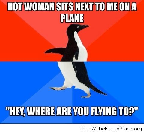 Hitting on a girl sitting next to me