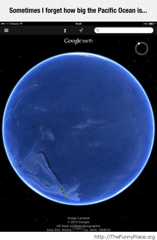 How big is the pacific ocean