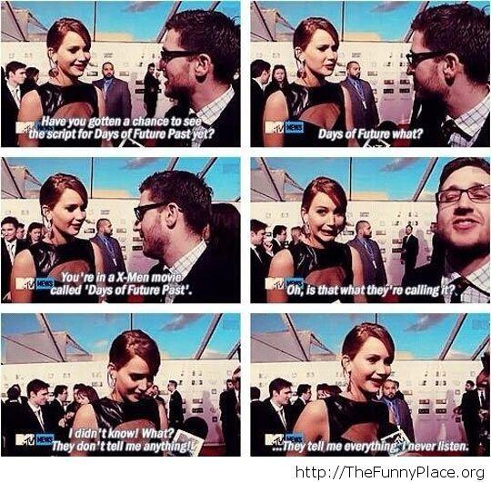 Jennifer Lawrence is cool