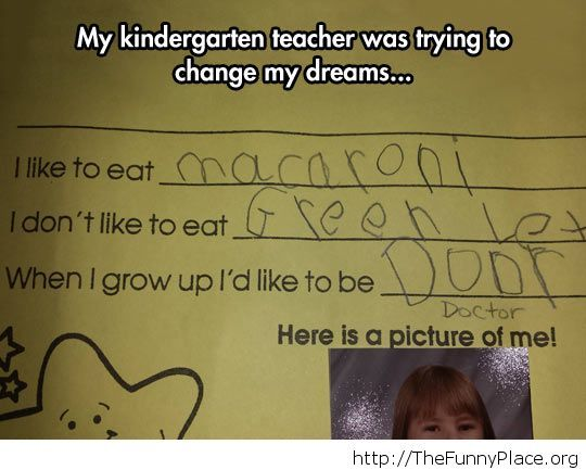 Kindergarden teacher...