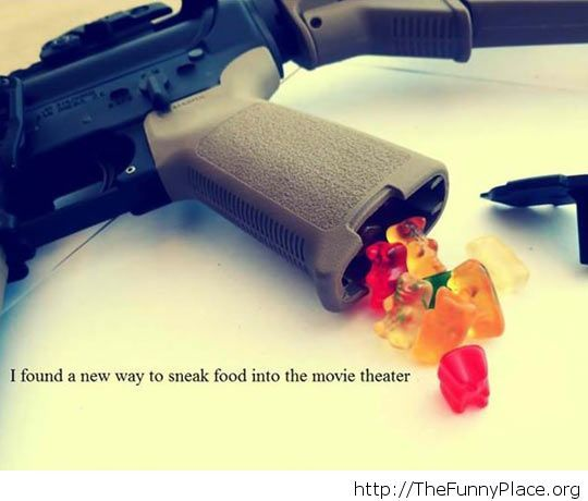 Sneaking food in a movie theater