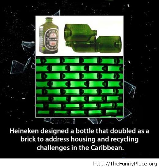 Square Heineken bottles