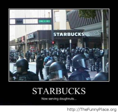 Starbucks and doughnuts