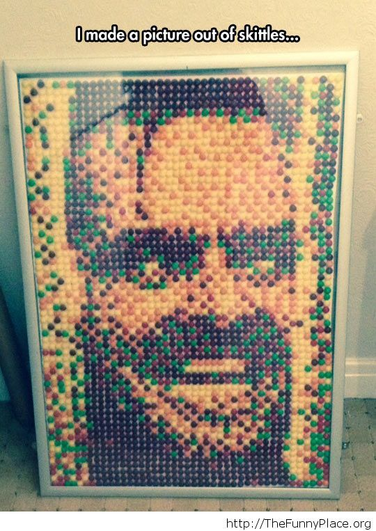 Awesome art with Skittles