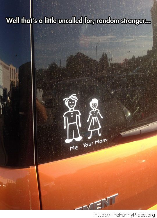 Comic car sticker