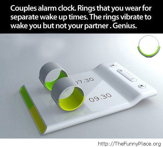 Cool alarm clock for couples