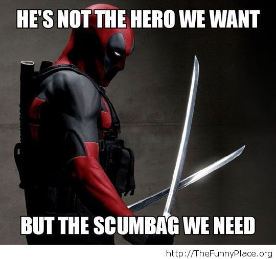 Funny Deadpool saying