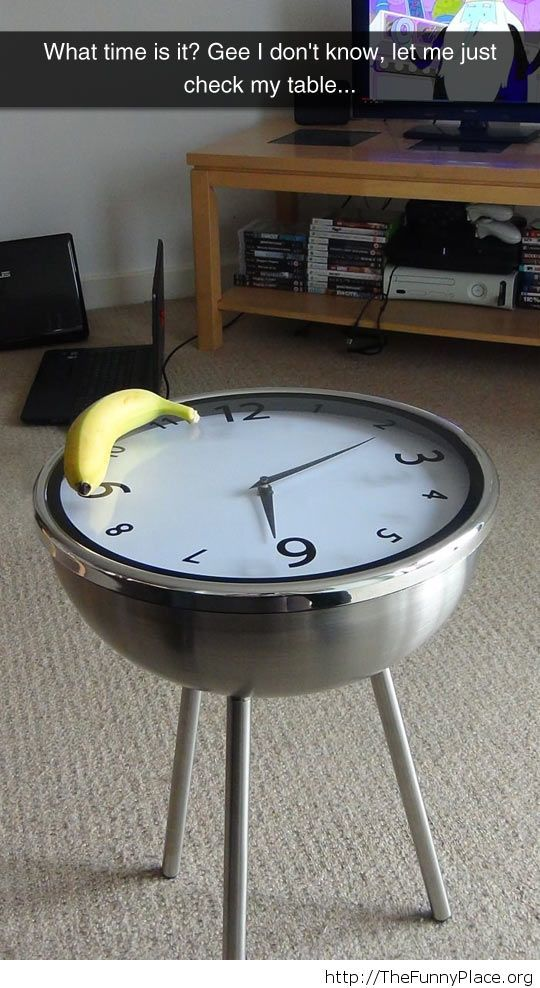 Funny clock table
