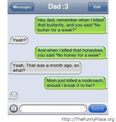 Funny dad message