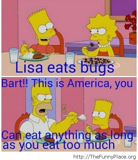 Funny eating Simpsons quote