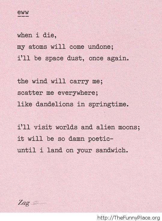 Funny poem image
