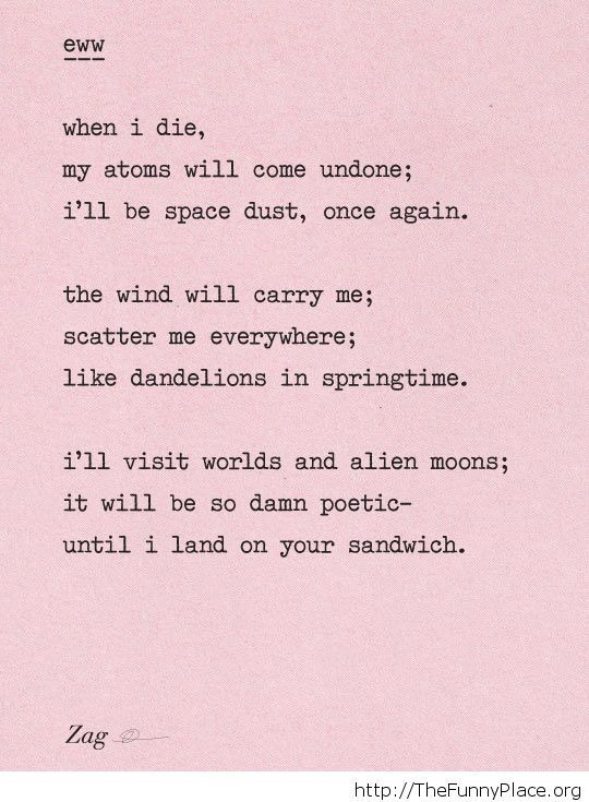 Funny poem image Funny