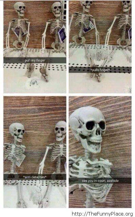 Funny skeleton joke – TheFunnyPlace