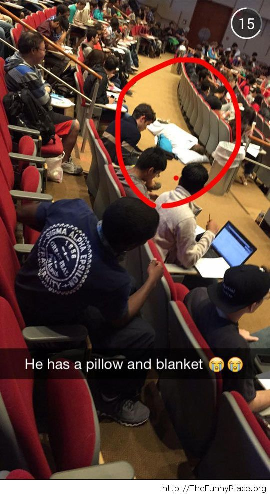 He had an awesome semester