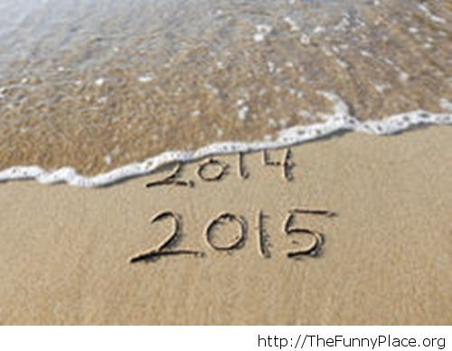 2015 is coming at the beach