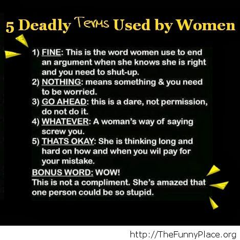 5 Deadly terms
