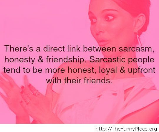 An interesting fact about sarcasm