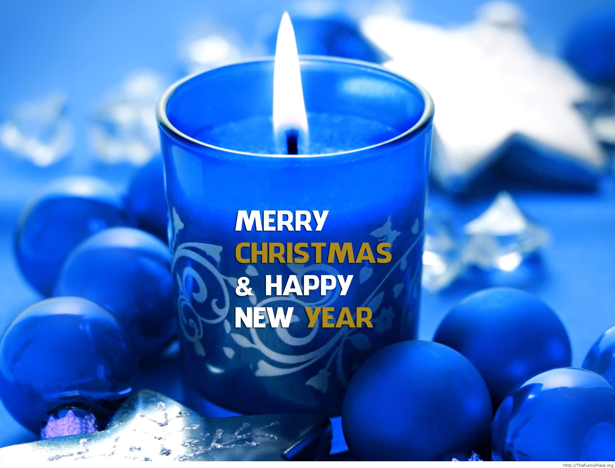 Awesome blue greeting card for the Winter Holidays