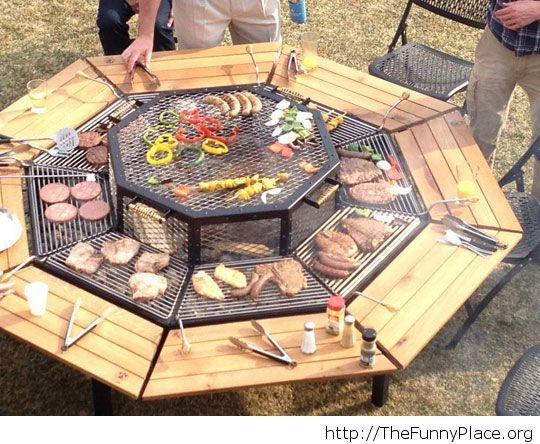 Awesome grill-table for your family