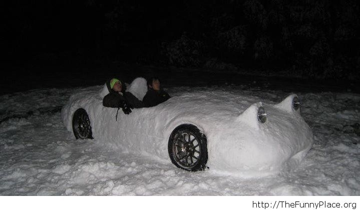 Awesome snow-mobile