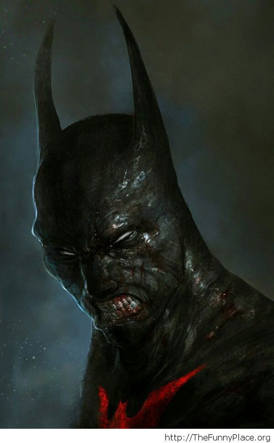 Batman as a zombie