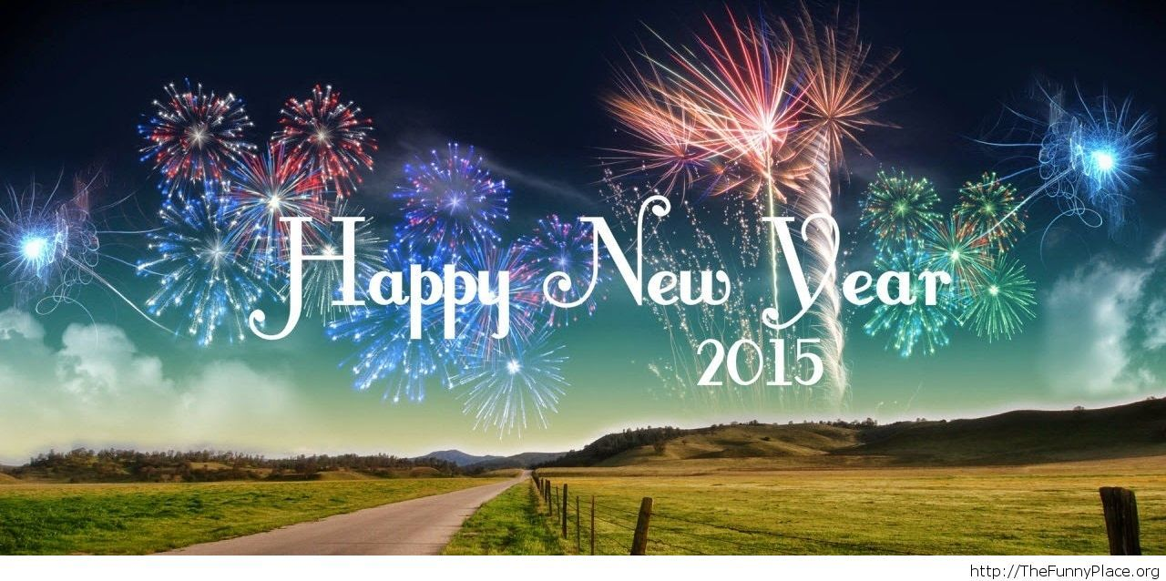 Beautiful facebook cover Happy New Year 2015